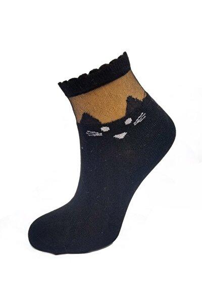 Bileğikedi Desenli Bambu Soket Çorap-2 Adet