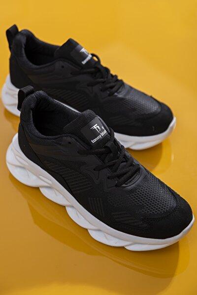 Unısex Spor Ayakkabı Siyah Beyaz Tb283