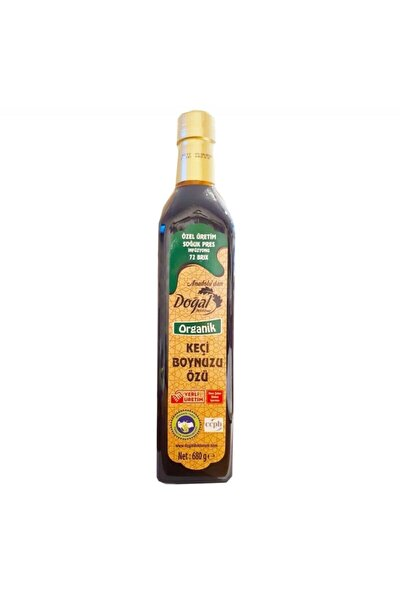 Bitki Diyarı Organik Soğuk Pres Keçiboynuzu Özü 72 Brix 680 g