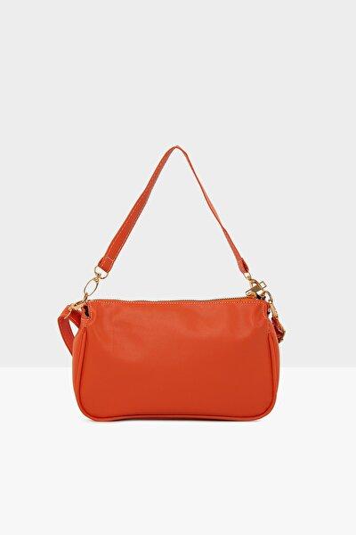 Turuncu Kadın Mini Baget Çanta M000004617