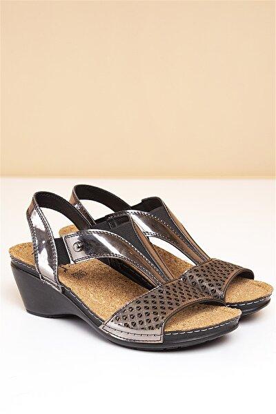 PC-1392 Füme Kadın Sandalet