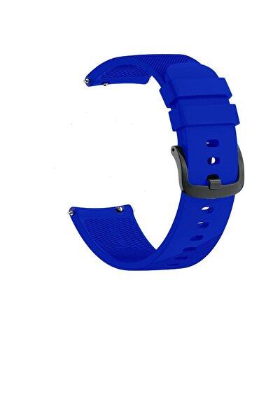 Samsung Watch Gear S3 Frontier 46mm Sport Kordon Silikon Koyu Mavi