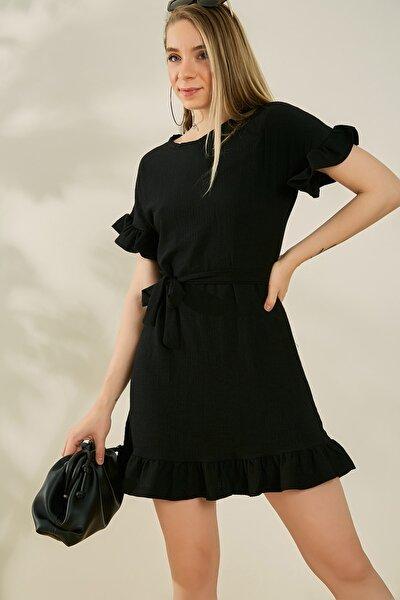 Kadın Siyah Elbise P603KEL121