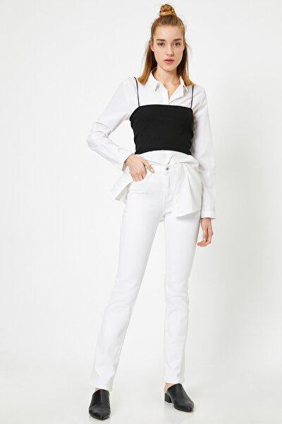Kadın Beyaz Jean 8YAK47514DD