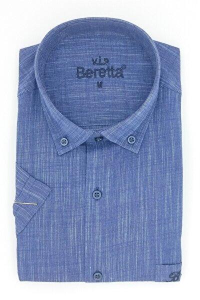Erkek Gömlek Mavi Regular Fit