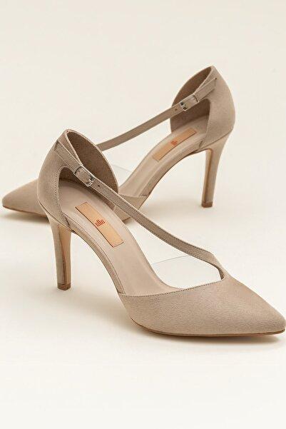 OLINDAA Bej Kadın Ayakkabı