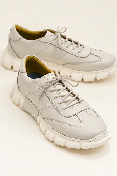 RAJU Hakiki Deri Bej Erkek Ayakkabı