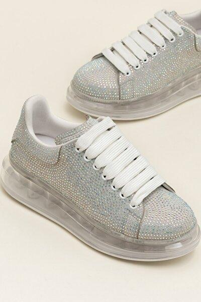 Destınya Gümüş Kadın Sneaker 20Ysdmo118-1