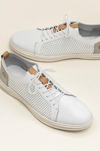Hakiki Deri Zach Beyaz Erkek Sneaker 20Ysy600