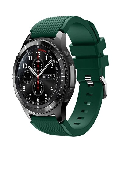 Huawei Watch Gt 46mm Sport Kordon Silikon Koyu Yeşil