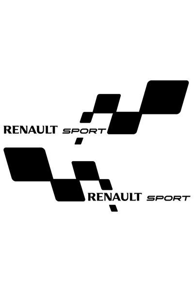 2 Adet 30 Cm Renault Sport Sticker, Araba Sticker, Oto Sticker