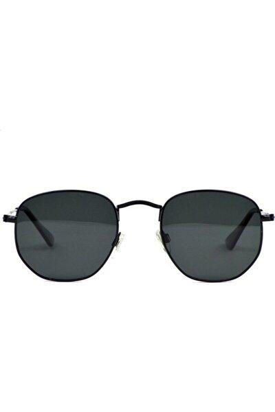 Unisex Siyah Çerçeveli Beşgen Güneş Gözlüğü