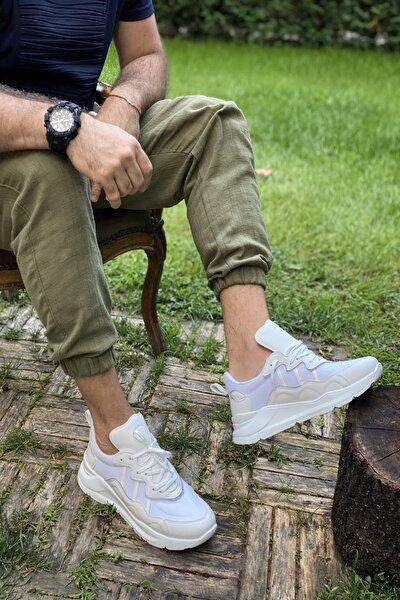 Beyaz Cilt File Erkek  Sneaker M100