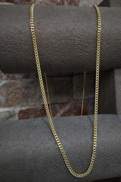 Gümüş 2,10 mm Gurmet Model Altın Kaplama Boyun Zinciri