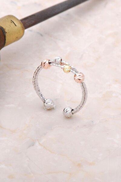 Dorica Renkli Toplu Gümüş Yüzük 3002