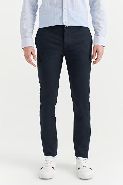 Yandan Cepli Basic Slim Fit Pantolon