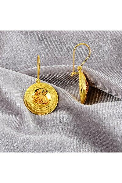 Kadın Sarı Osmanlı Serisi Tura Altın Küpe