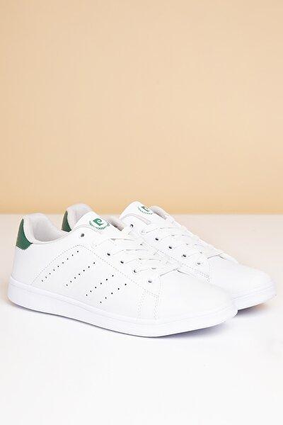 Erkek Günlük Spor Ayakkabı-Beyaz-Yesil PCS-10152