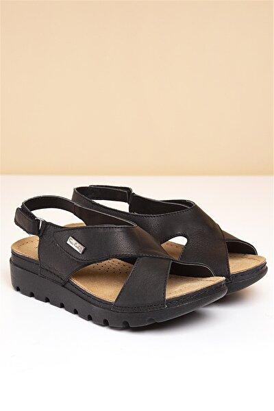 PC-1378 Siyah Kadın Sandalet