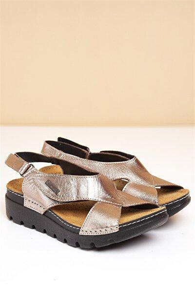 PC-1378 Platin Kadın Sandalet