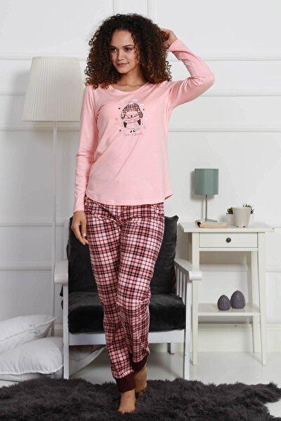 Kadın Pijama Takım 9032943030 Somon