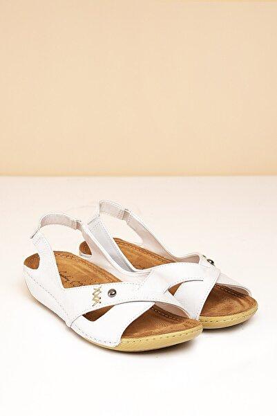 PC-1188 Beyaz Kadın Sandalet
