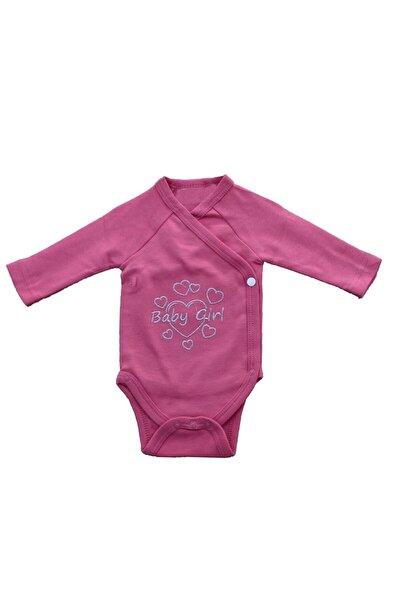 Kalpli Baby Girl Kız Bebek Yandan Kapama Kruvaze Body