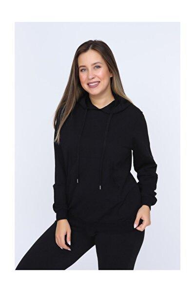 Kadın Siyah Sweatshirt 6831