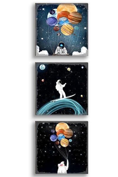 Gezegenler Ve Astronot 3'lü Set