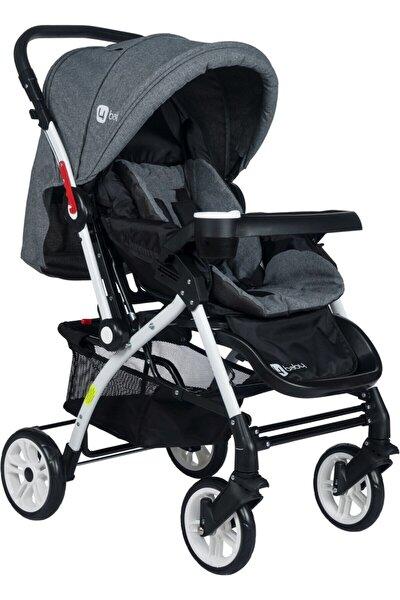 Lüx Alüminyum Mama Tablalı Çift Yönlü Bebek Arabası