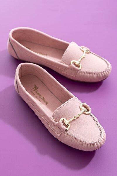 Pudra Süet Kadın Loafer Ayakkabı TB1200-1