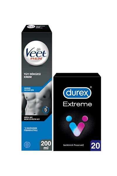 Hassas Erkeklere Özel Tüy Dökücü Krem 200ml Durex Extreme Geciktiricili Prezervatif 20'li
