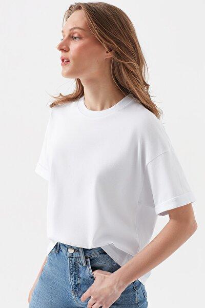 Kadın Beyaz T-Shirt 1600062-620