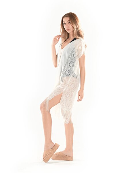Diana Ekru Plaj Elbisesi - Deniz Elbisesi Plaj Giyim Modeli