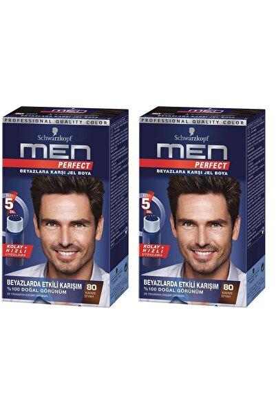Perfect Men 80 Siyah Kahve Saç Boyası x 2 adet