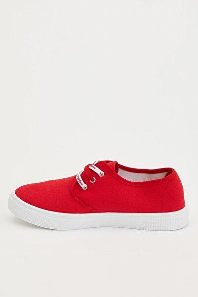Kadın Kırmızı Bağcıklı Sneakers Ayakkabı R3460AZ.20SP.RD2