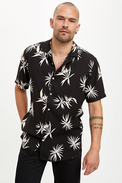 Erkek Siyah Tek Cepli Modern Fit Gömlek N8442AZ.20SM.BK27