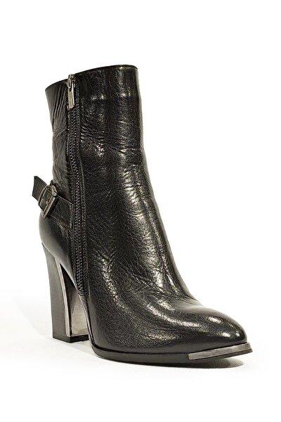 Kadın Siyah Topuklu Bot Mnd14k-1200-4