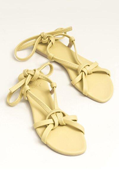 Ina Sarı Kadın  Sandalet 20YDS54131