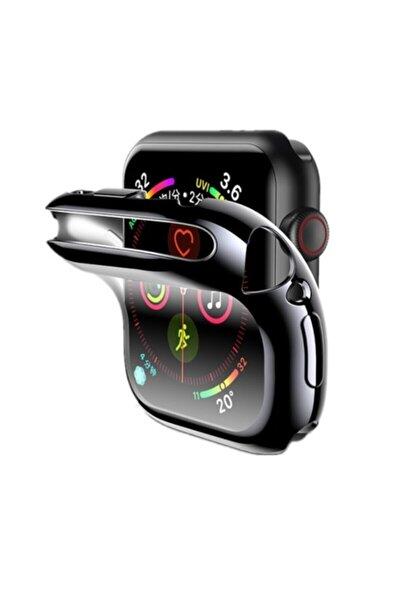 Apple Watch Uyumlu Siyah Silikon Kılıf 44 Mm Tam Koruma Iwatch 1 2 3 4 5