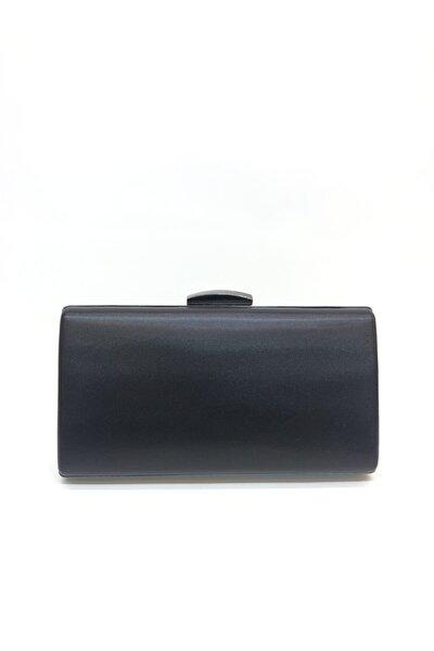 Kadın Siyah Renk Kumaş Uzun Askılı Kullanımlı Abiye Portföy Clutch Çanta