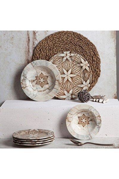 Porselen 24 Parça 6 Kişilik Yemek Takımı