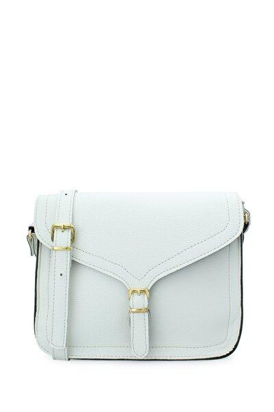Kadın Toka Detaylı Beyaz Çapraz Çanta 173