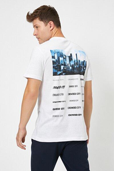 Erkek Beyaz T-Shirt 0YAM11651CK