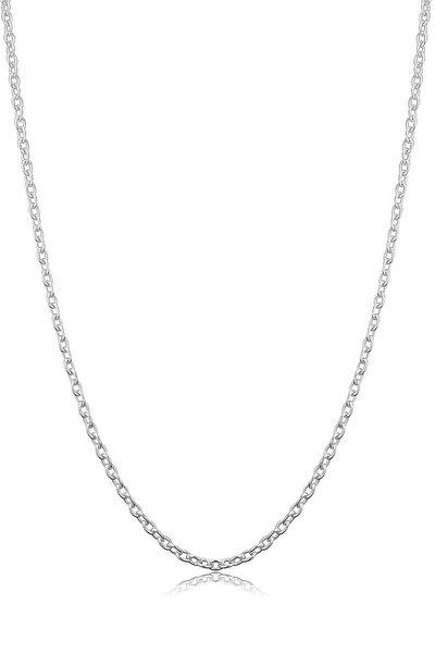 Kadın Gümüş Ince Forse Zincir Gümüş Kolye Özel 0.70mm Mücevher