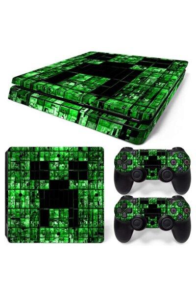 Minecraft Playstation 4 Slim Kasa Sticker Kaplama
