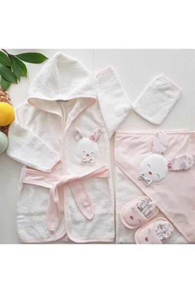 Yeni Koleksiyon Kız Bebek Havlu Bornoz Seti 100826