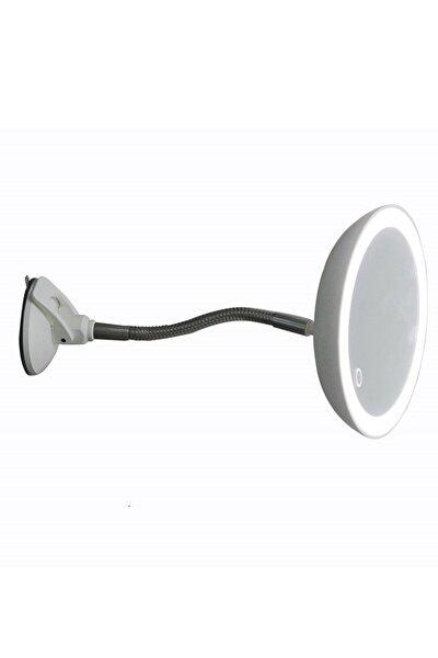 Led Işıklı Banyo Makyaj - Tıraş Aynası, 10x Hd Zoom, Dim Edilebilir Dokunmatik Işık Kısma, Esnek Kol
