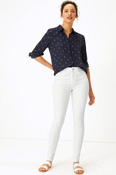 Kadın Beyaz Skinny Leg Jean Pantolon T57007560B