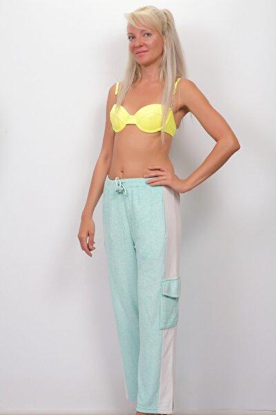 Kadın Yeşil Havlu Plaj Pantolon Cn-03